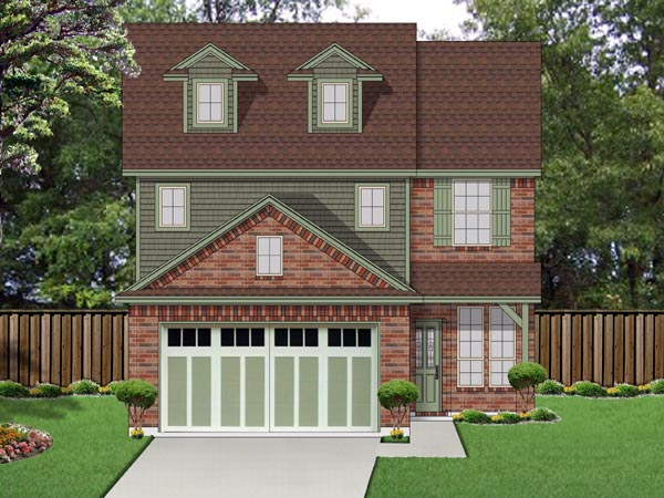 Cottage , Craftsman House Plan 69974 with 3 Beds, 3 Baths, 2 Car Garage Elevation
