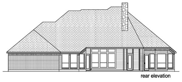 Traditional House Plan 69975 Rear Elevation
