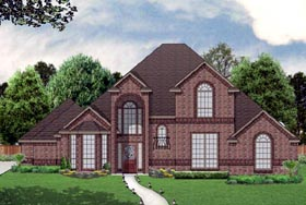 House Plan 69976 | Traditional Style Plan with 2705 Sq Ft, 3 Bed, 3 Bath, 3 Car Garage Elevation