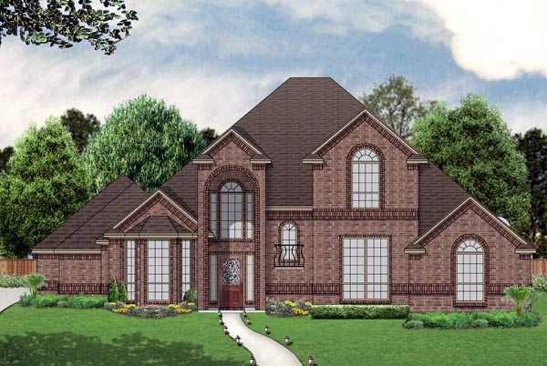 Traditional House Plan 69976 with 3 Beds, 3 Baths, 3 Car Garage Elevation