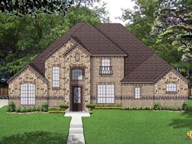 Traditional House Plan 69978 with 3 Beds, 3 Baths, 2 Car Garage Elevation