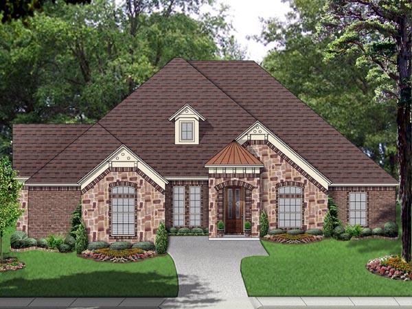 European Traditional Tudor House Plan 69983 Elevation