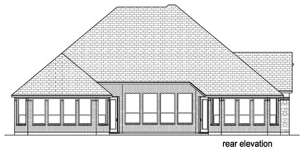 European Traditional Tudor House Plan 69983 Rear Elevation