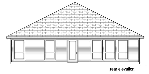 Traditional House Plan 69984 Rear Elevation