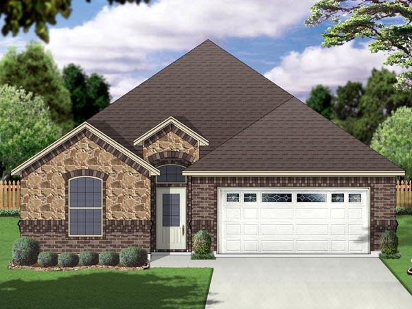 European Traditional House Plan 69989 Elevation