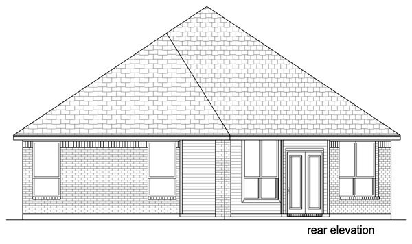 European Traditional House Plan 69990 Rear Elevation