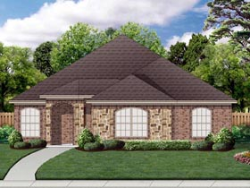 House Plan 69995 | Traditional Style Plan with 2086 Sq Ft, 2 Bedrooms, 2 Bathrooms, 2 Car Garage Elevation