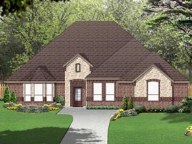 European Traditional House Plan 69997 Elevation