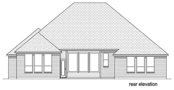 European Traditional House Plan 69997 Rear Elevation