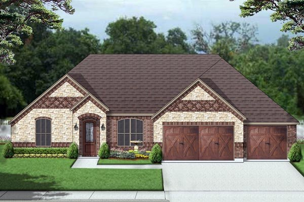 European Traditional House Plan 69999 Elevation