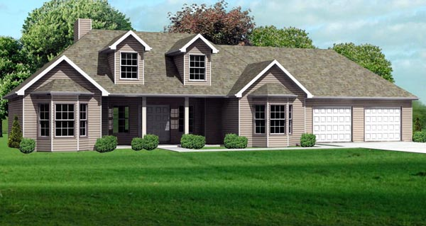 Cape Cod House Plan 70105 Elevation