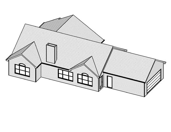 Traditional House Plan 70108 Rear Elevation