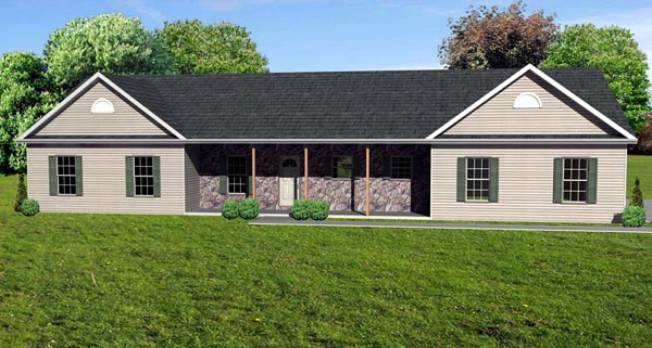 Traditional House Plan 70117 Elevation