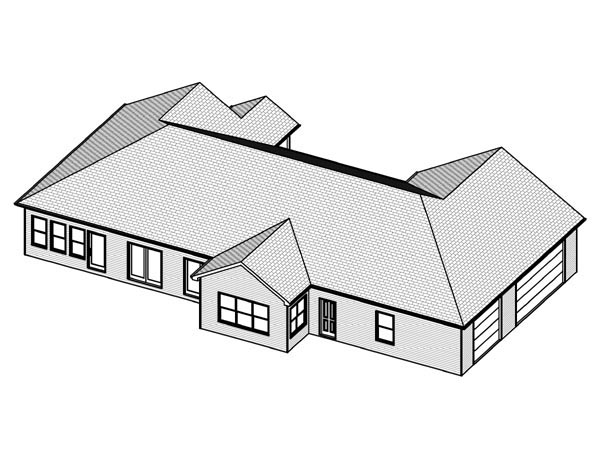 Traditional House Plan 70125 Rear Elevation