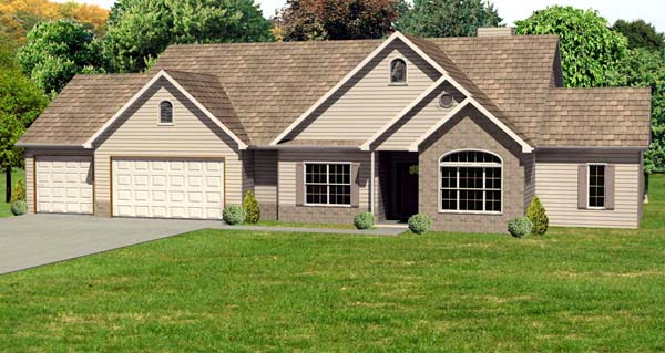 Traditional House Plan 70128 Elevation