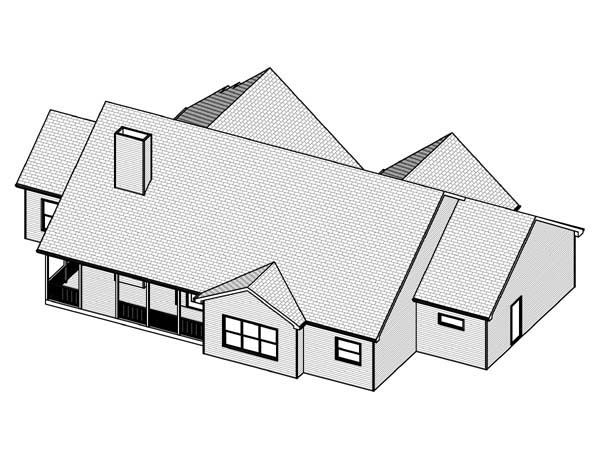 Traditional House Plan 70128 Rear Elevation