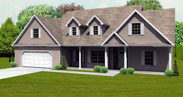 Cape Cod House Plan 70132 Elevation