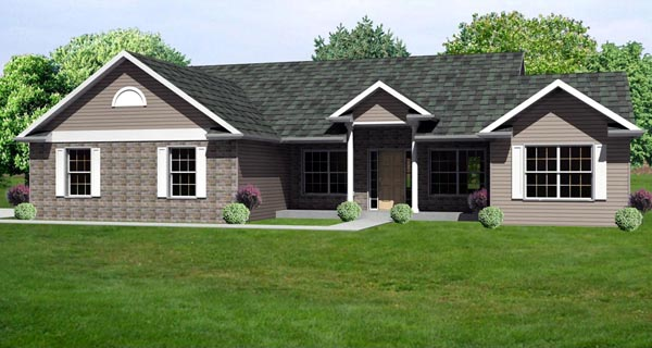 Traditional House Plan 70139 Elevation
