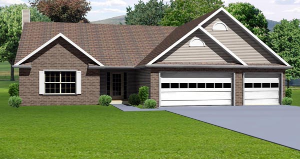 Traditional House Plan 70142 Elevation