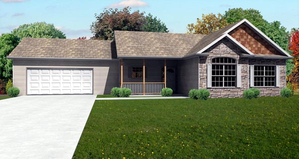 Traditional House Plan 70151 Elevation