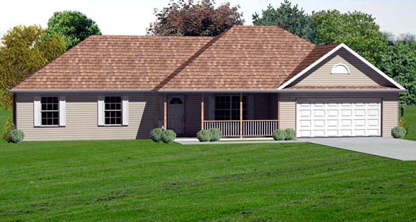 Traditional House Plan 70163 Elevation
