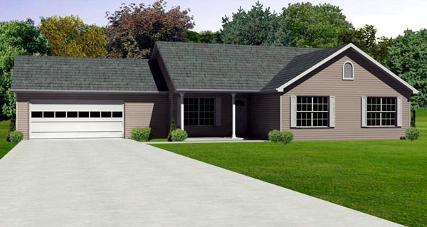 Traditional House Plan 70167 Elevation