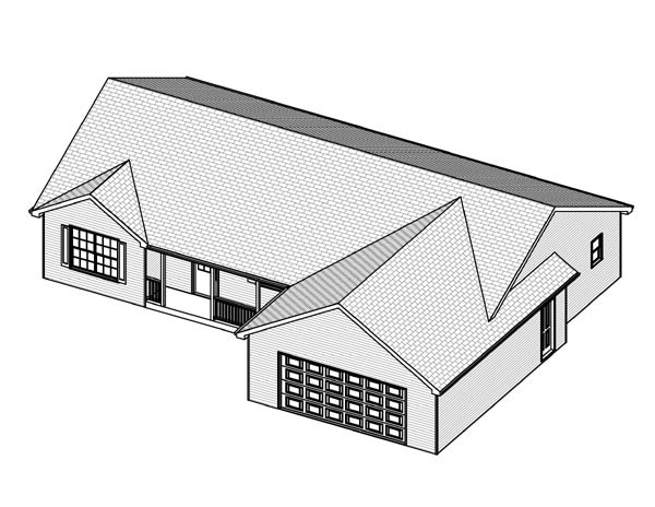 Traditional House Plan 70168 with 3 Beds, 3 Baths, 2 Car Garage Picture 1
