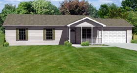 Traditional House Plan 70172 with 3 Beds, 2 Baths, 2 Car Garage Elevation