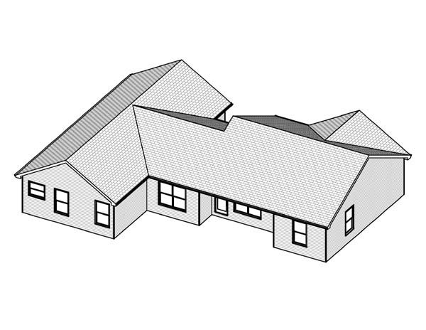 Traditional House Plan 70175 Rear Elevation