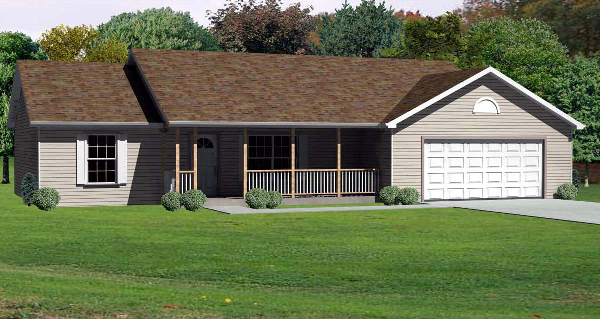 House plan 70177 at for Modular quadplex