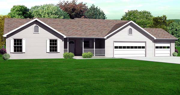 Traditional House Plan 70182 Elevation