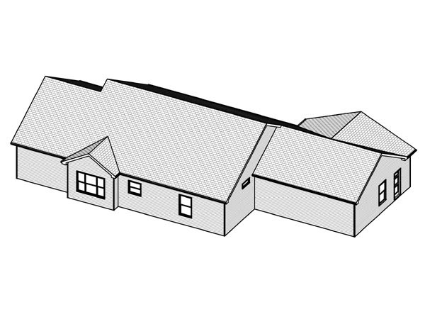 Traditional House Plan 70185 Rear Elevation