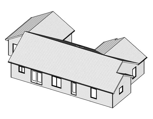 Traditional House Plan 70189 Rear Elevation