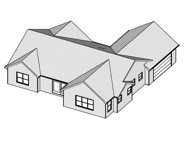Traditional House Plan 70195 Rear Elevation