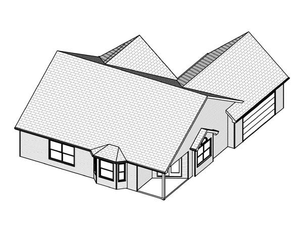Traditional House Plan 70199 Rear Elevation