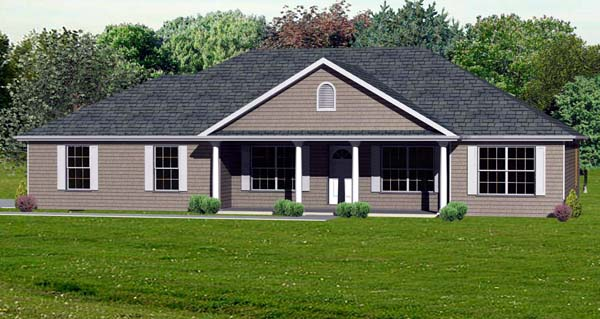 Traditional House Plan 70302 Elevation