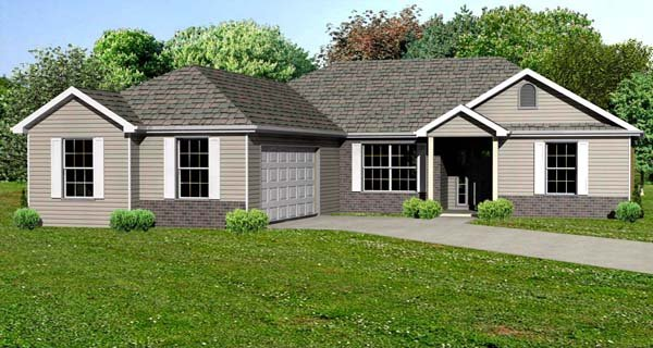 Traditional House Plan 70303 Elevation