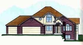 European House Plan 70400 with 2 Beds, 3 Baths, 3 Car Garage Elevation