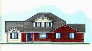 Traditional House Plan 70401 with 3 Beds, 3 Baths, 3 Car Garage Elevation