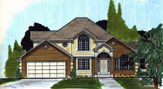 European House Plan 70402 with 3 Beds, 3 Baths, 2 Car Garage Elevation