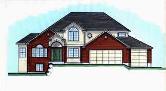 Traditional House Plan 70403 with 3 Beds , 3 Baths , 3 Car Garage Elevation