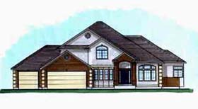 European House Plan 70405 Elevation