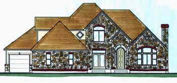 European House Plan 70406 Elevation