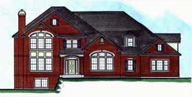 House Plan 70407 | Traditional Style Plan with 3932 Sq Ft, 4 Bedrooms, 4 Bathrooms, 3 Car Garage Elevation