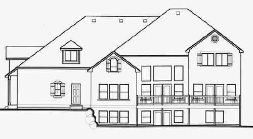 Traditional House Plan 70407 Rear Elevation