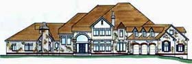 House Plan 70408 | European Style Plan with 7594 Sq Ft, 4 Bedrooms, 5 Bathrooms, 3 Car Garage Elevation