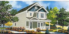 House Plan 70409 | Southern Style Plan with 1104 Sq Ft, 3 Bedrooms, 2 Bathrooms Elevation