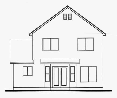 Traditional House Plan 70411 Rear Elevation