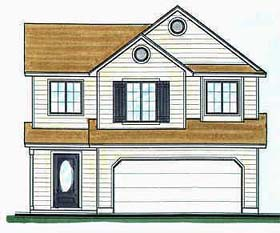 House Plan 70414 | Traditional Style Plan with 1650 Sq Ft, 3 Bedrooms, 3 Bathrooms, 2 Car Garage Elevation