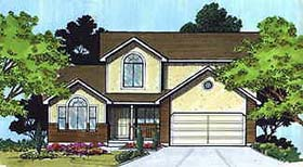 House Plan 70418 | Traditional Style Plan with 2061 Sq Ft, 4 Bedrooms, 4 Bathrooms, 2 Car Garage Elevation